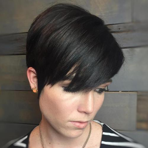 Classic Pixie Haircut With Bangs