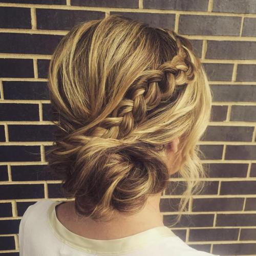 Messy Side Bun With A Braid