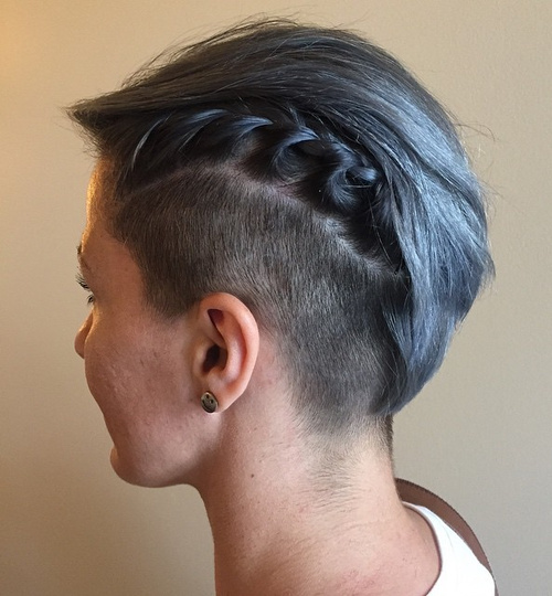 short asymmetrical undercut for women