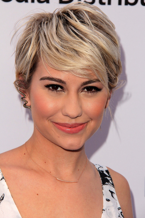 short textured fringe hairstyle