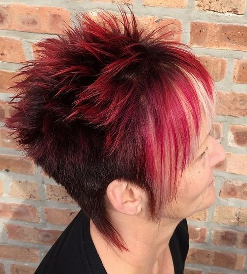 women's spiky undercut hairstyle