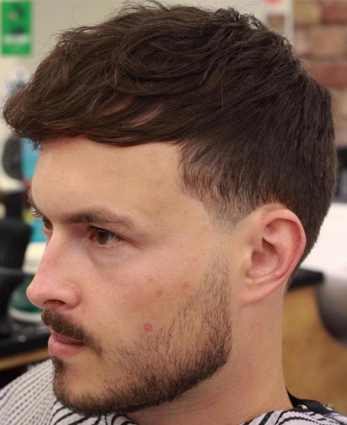 Men's Wavy Undercut Haircut