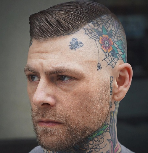 50 stylish hairstyles for men with thin hair for Tattoos on side of head