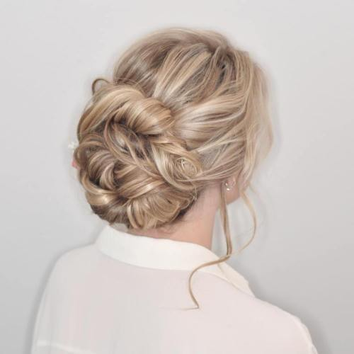 Low Twisted Bun For Long Hair