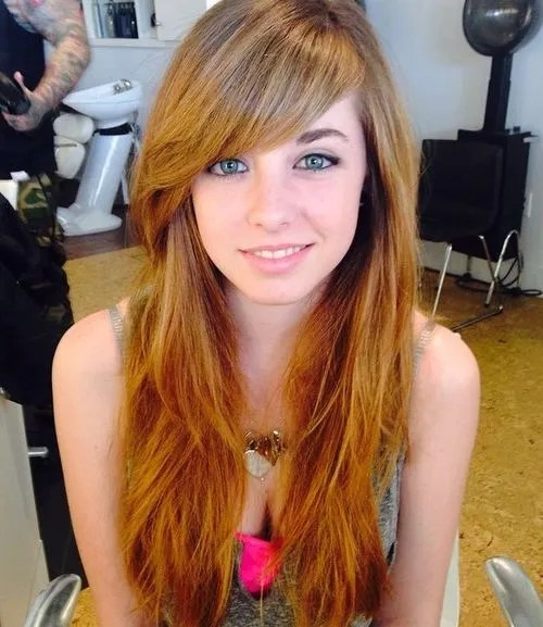 Fine 40 Cute And Effortless Long Layered Haircuts With Bangs Short Hairstyles Gunalazisus