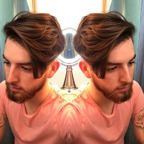 stylish medium hairstyle for men