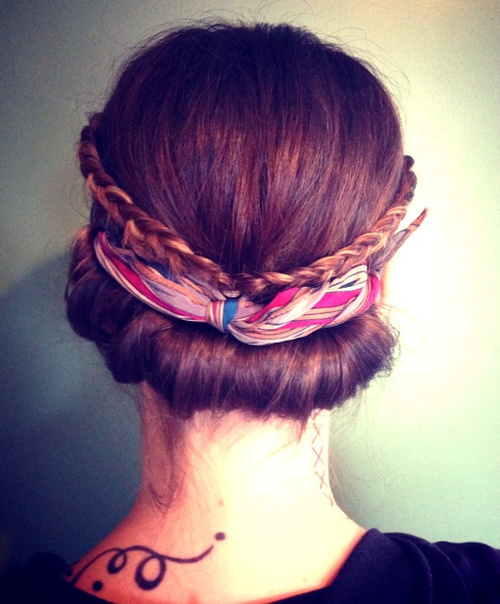 easy vintage updo for medium hair