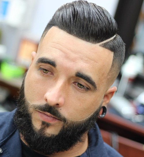 Side Part Fade With Line Up