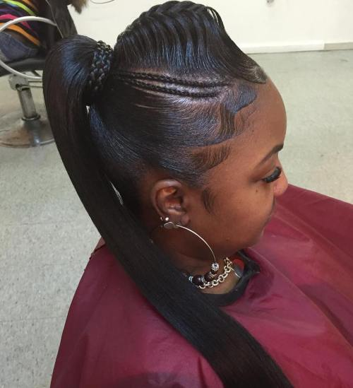 ponytail styles for black hair 30 black ponytail hairstyles 1663