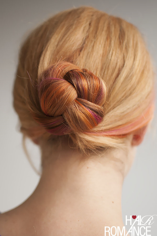 braided bun updo for medium hair
