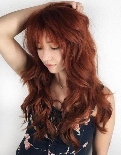 Messy Auburn Hairstyle For Long Hair