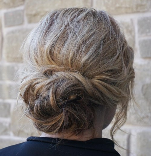 Messy Low Bun Updo