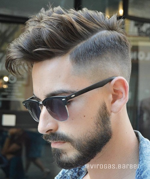 Combover With High Fade