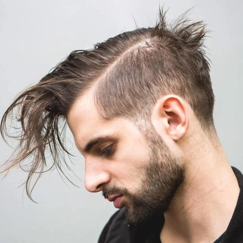 Long Top Short Sides Hairstyle For Thin Hair