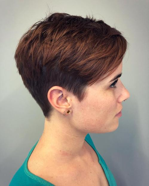 Short Choppy Two-Tier Pixie