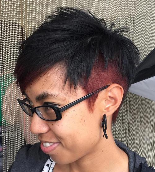 spiky two-tone pixie
