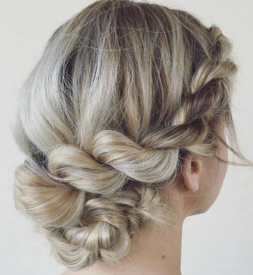 Easy Twisted Updo For Medium Hair