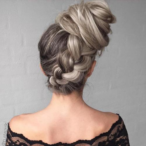 Braid Into Side Bun Updo