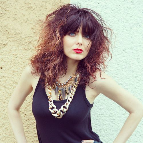 Amazing 40 Cute Styles Featuring Curly Hair With Bangs Short Hairstyles Gunalazisus
