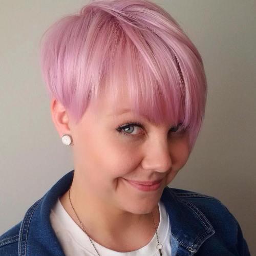 Pastel Pink Asymmetrical Pixie