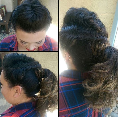 triple braid ponytail