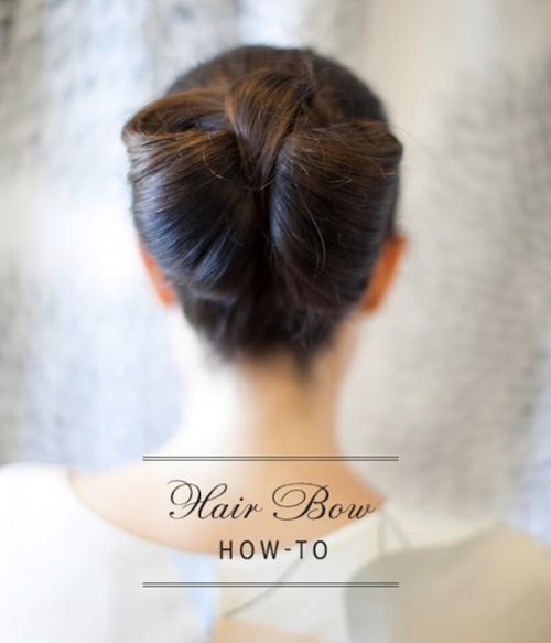 casual bow bun updo
