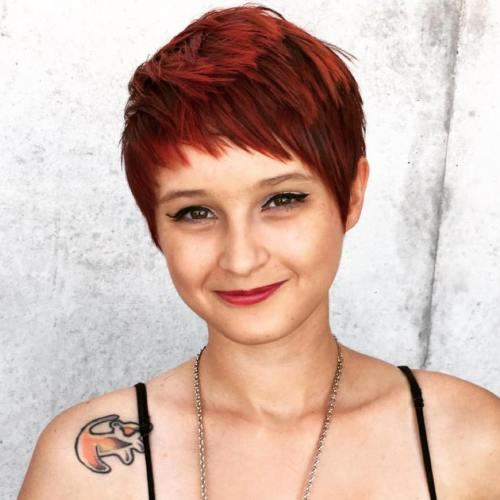 Red Choppy Pixie