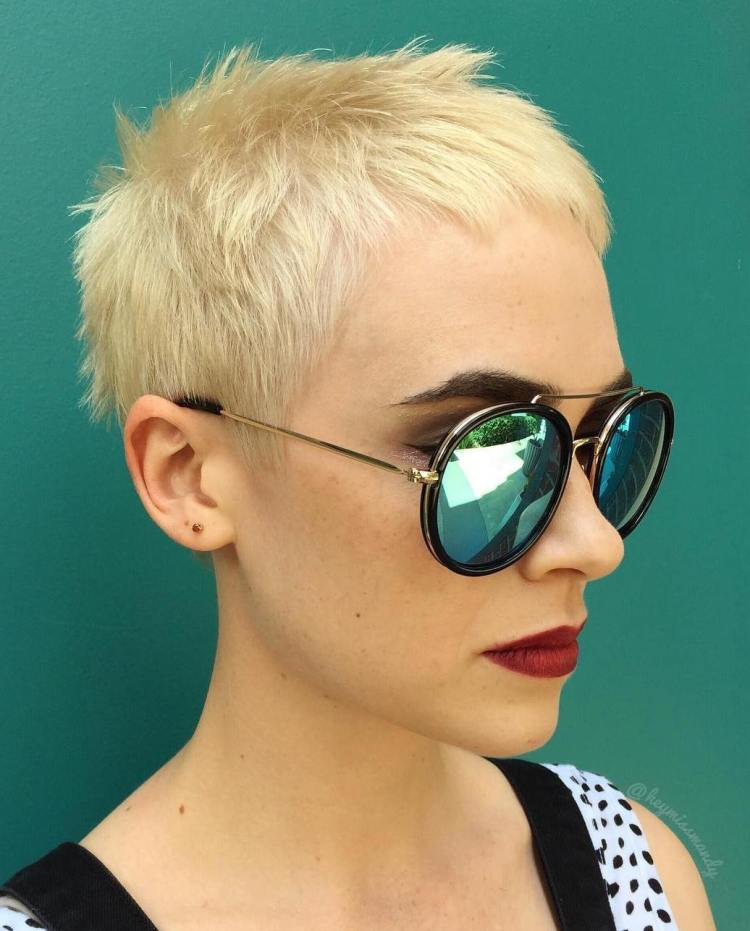Very Short Blonde Hairstyle