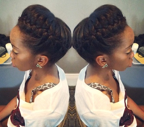 crown braid updo for black women