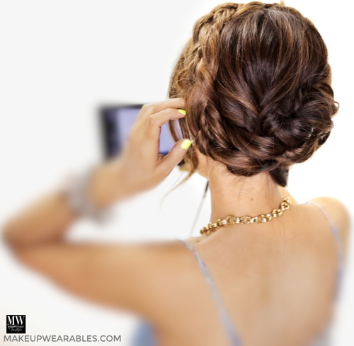 formal curly updo