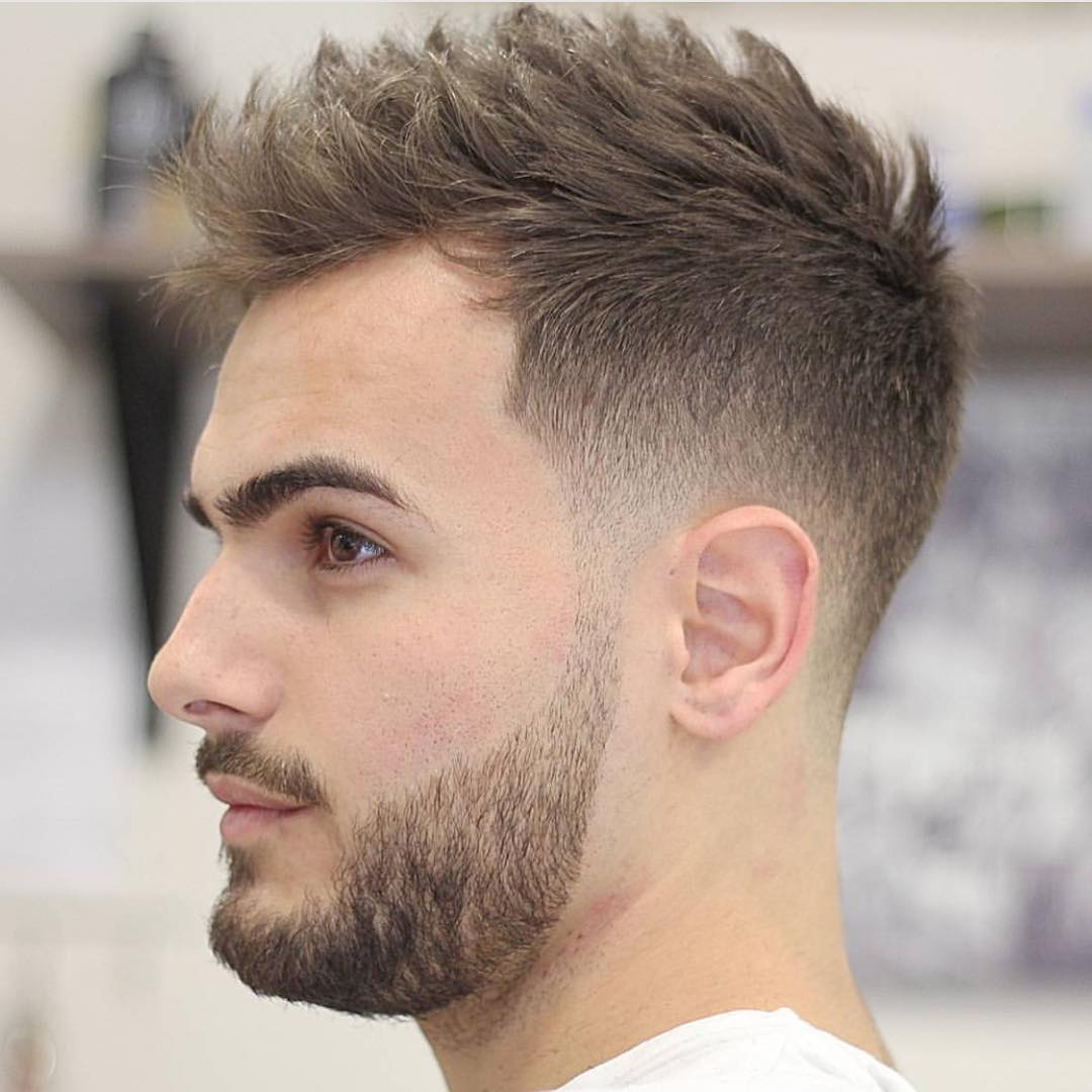 Lovely Taper Fade With Spiky Top