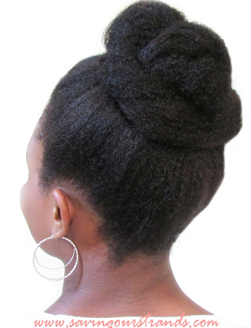 top knot updo hairstyle for black women
