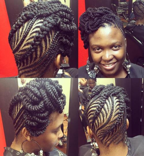 Amazing 50 Updo Hairstyles For Black Women Ranging From Elegant To Eccentric Hairstyles For Men Maxibearus