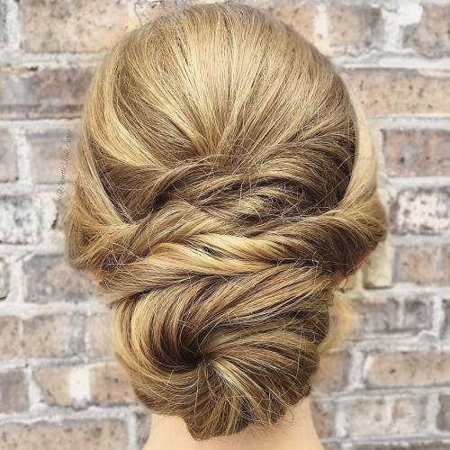 Formal Chignon With Twists