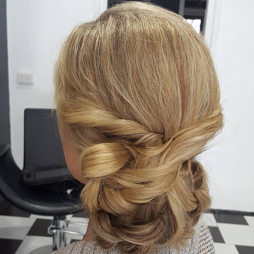 Twisted Chignon For Long Hair