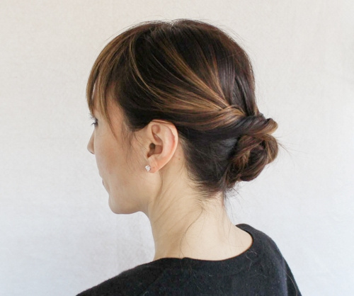 loose knot updo