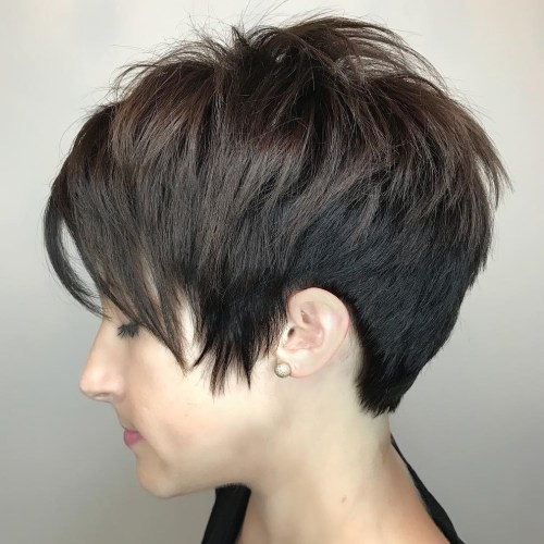 Shaggy Side-Swept Pixie Cut