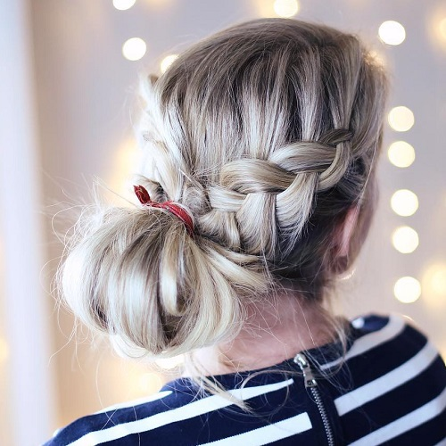Waterfall Braid And Side Knot