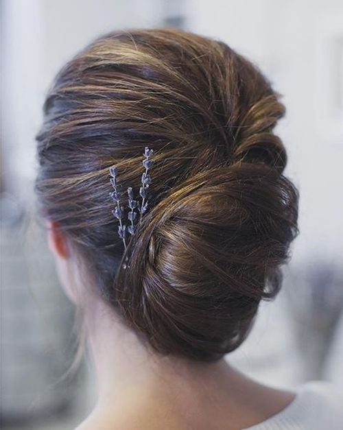 boho french twist updo