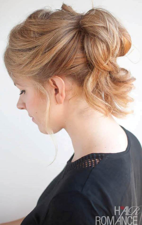 pinned up pony loose updo