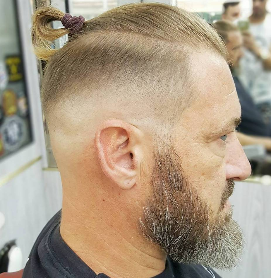 Older Men's Long Top Short Sides Hairstyle