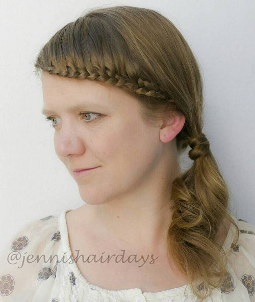 Side Ponytail With Braided Headband