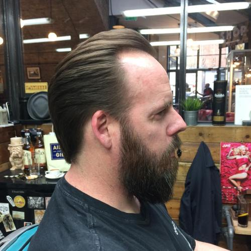 Slicked Back Hairstyle For Receding Hairline