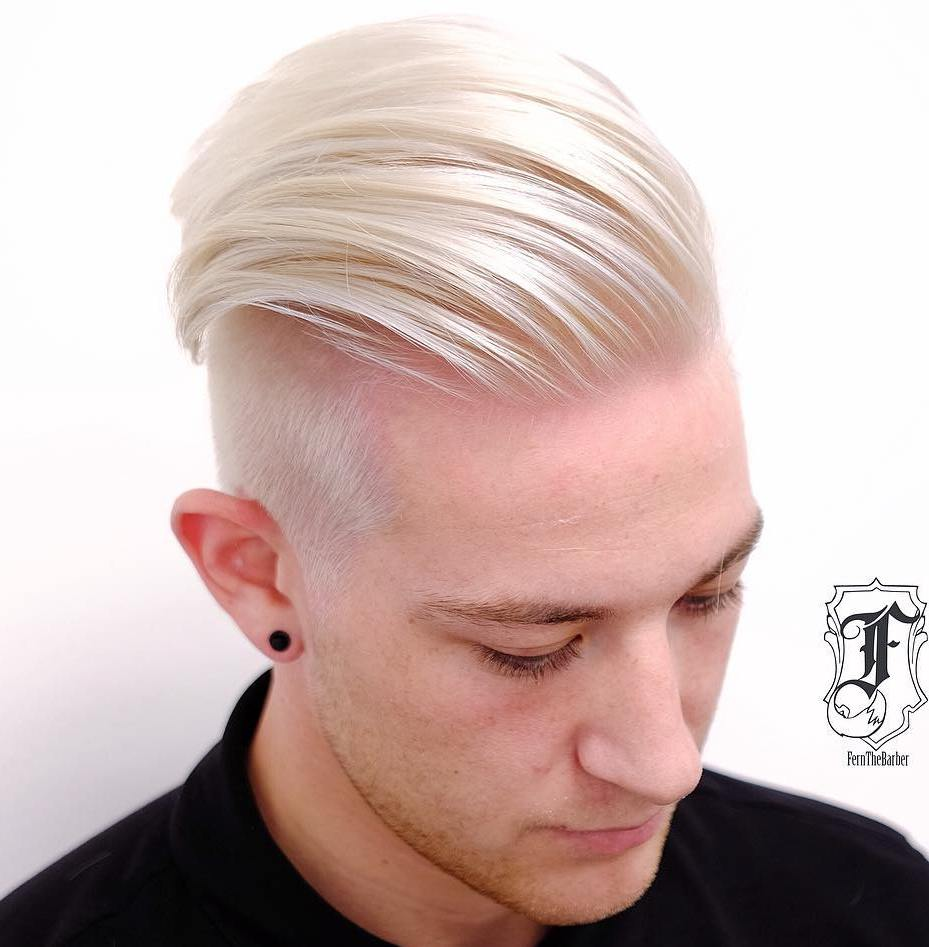Men's Blonde Undercut Haircut