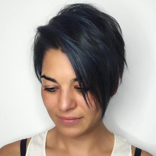 Black Layered Pixie Bob