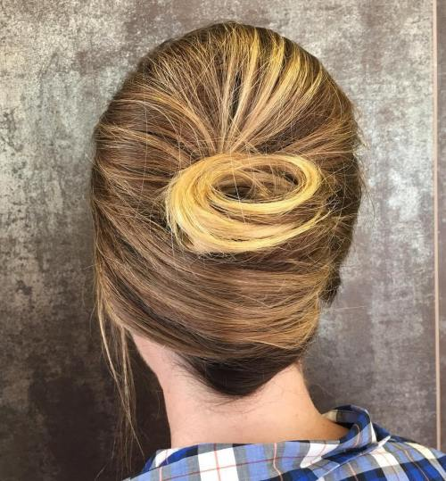 Creative French Roll Updo