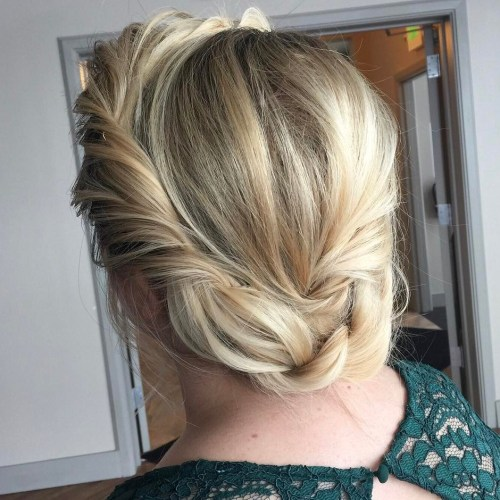 Messy Updo With A Crown Twist