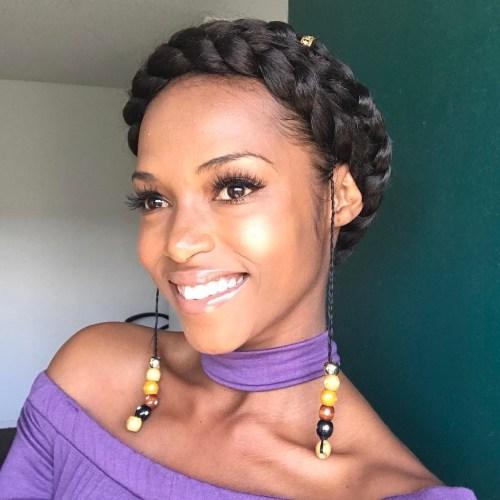 African American Crown Braid Updo