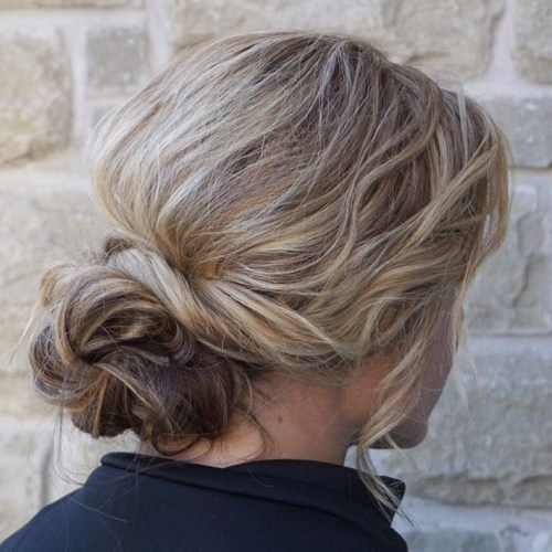 Casual Messy Bun For Long Hair