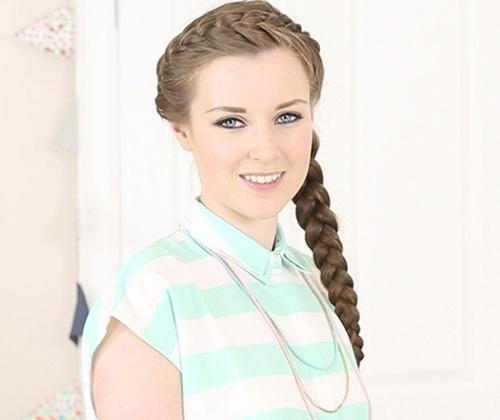 crown braid hairstyle for long hair